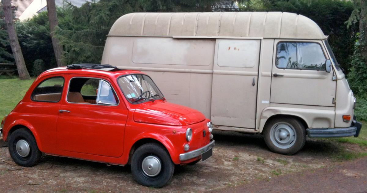 fiat 500 et renault estafette une voiture de collection propos e par lucien z. Black Bedroom Furniture Sets. Home Design Ideas