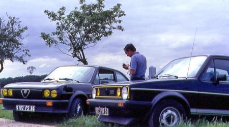 Une Alfasud TI et une Golf GTI En 1978