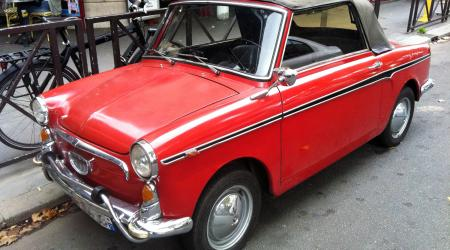 Voiture de collection « Autobianchi Bianchina Cabriolet rouge »