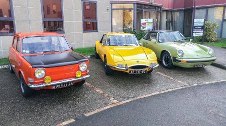 Voiture de collection « Simca 1000 + Matra 530 + Porsche 911 Targa »