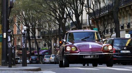 Citroën DS Lors de la traversée de Paris