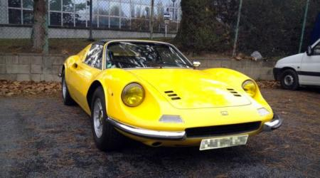 Voiture de collection « Dino Ferrari 246 GT/ GTS jaune »