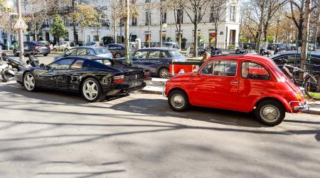 Voiture de collection « Ferrari 512 Testarossa + Fiat 500 »