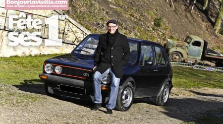Jérôme THIERRY et sa Golf GTI noire au fort de Cormeilles-en-Parisis