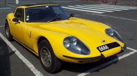 Voiture de collection « Marcos GT Jaune »