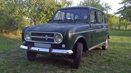 Renault 4L verte bouteille
