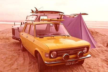 Voiture de collection « Fiat 128 vers 1974 »