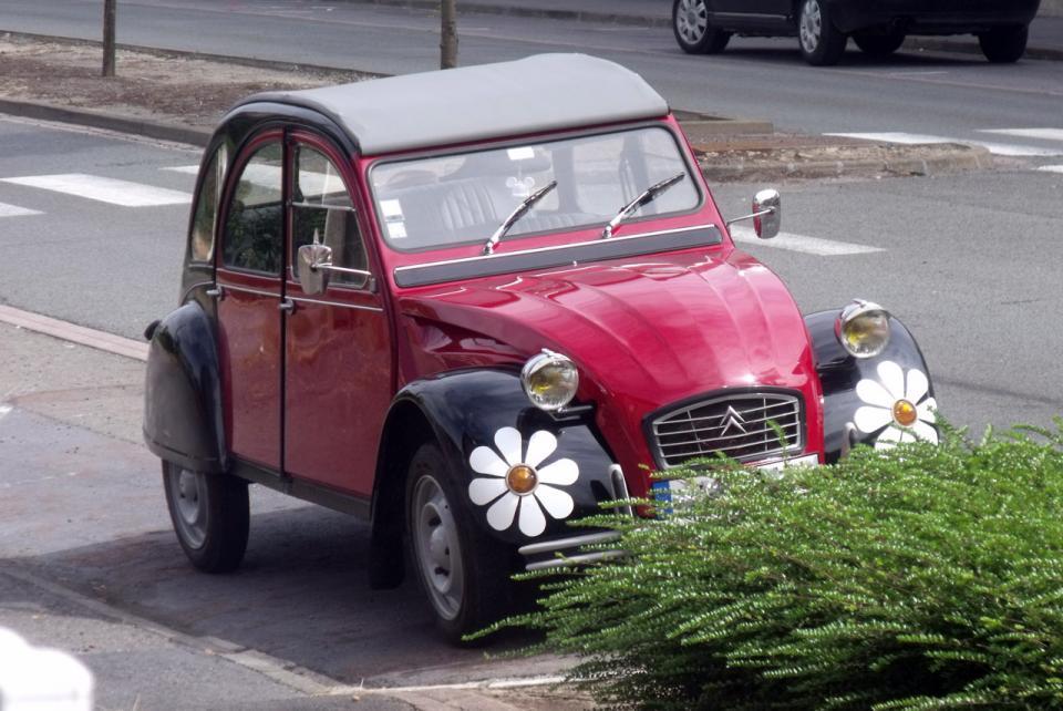 citro u00ebn 2 chevaux fleurs  une voiture de collection