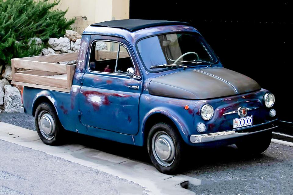 fiat 500 pickup une voiture de collection propos e par eros l. Black Bedroom Furniture Sets. Home Design Ideas